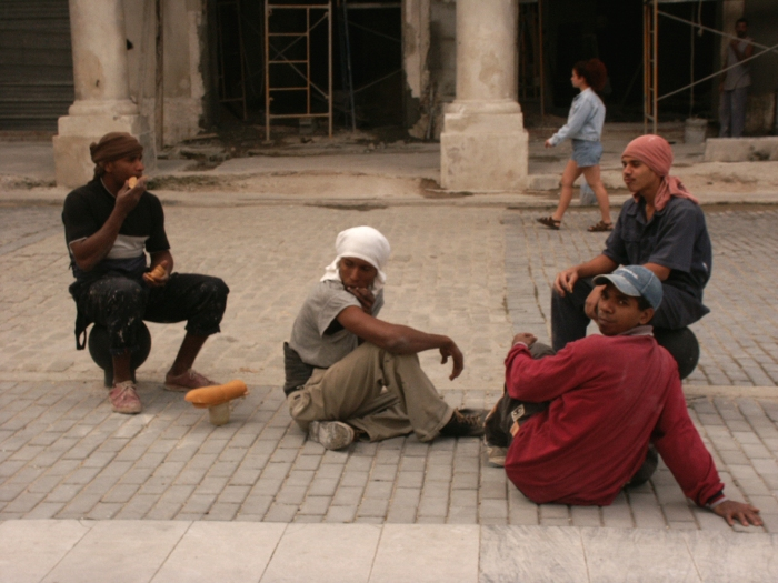 group of boys in street