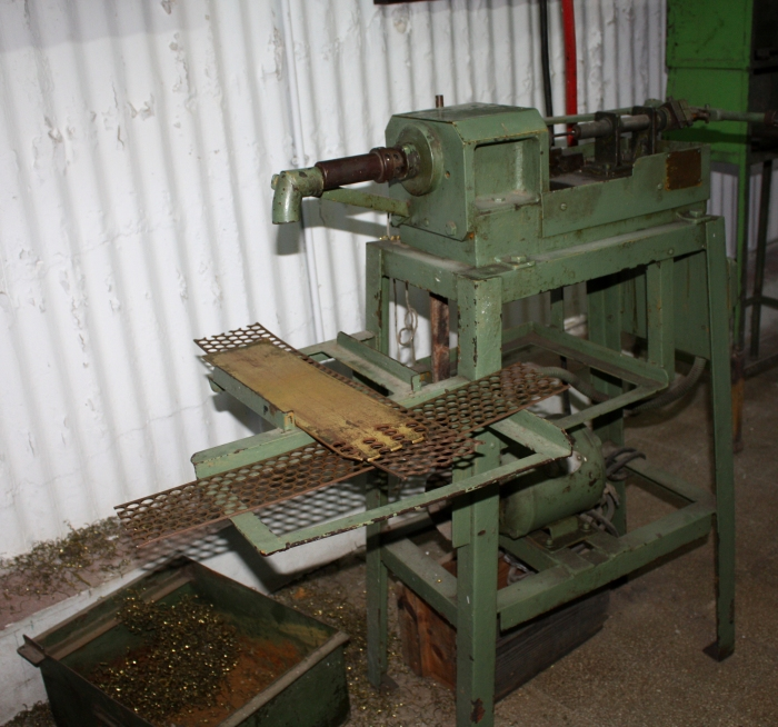 machine for stamping copper