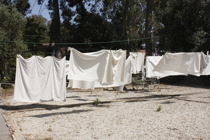 the laundry drying